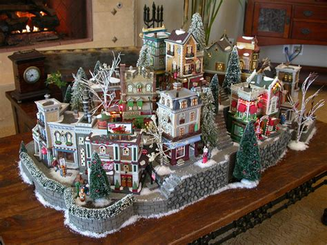 images of christmas village displays galleries showcase displays