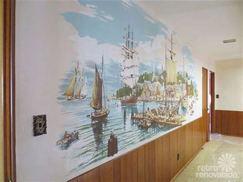 vintage wall murals where to find vintage and vintage style wallpaper murals retro renovation