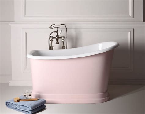 bathtubs for small bathrooms small freestanding bath tubby torre in baby pink