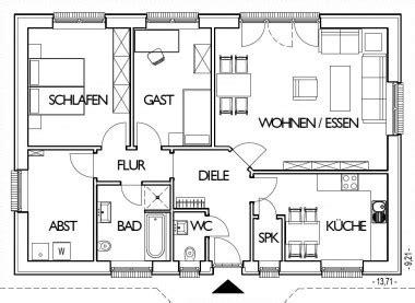 Grundriss Wohnung 85 M2 by Bauunternehmen Hamburg F 252 R Den Schl 252 Sselfertigen