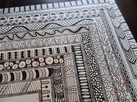 pattern for drawing around drawing near rubber st and zentangle mail art
