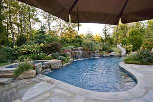 Backyard Pool Landscaping Ideas Landscaping Ideas By Nj Custom Pool Backyard Design Expert