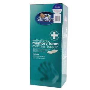 Foam Mattress Allergy Symptoms by Buy Silentnight Memory Foam Mattress Topper Single At Home