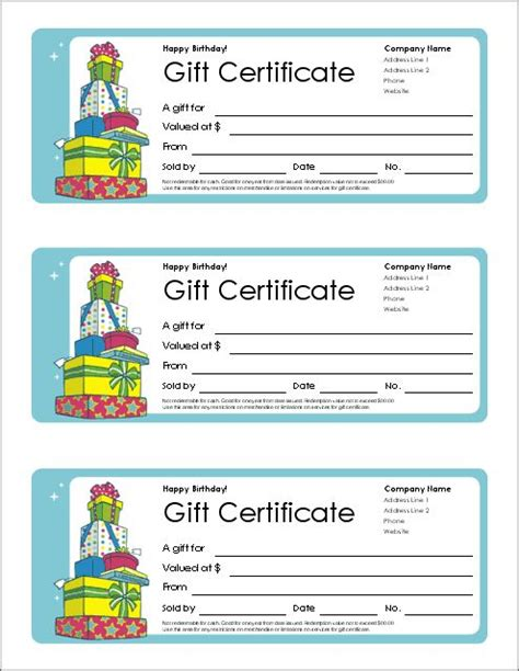 blank birthday gift certificate template 17 best ideas about printable gift certificates on