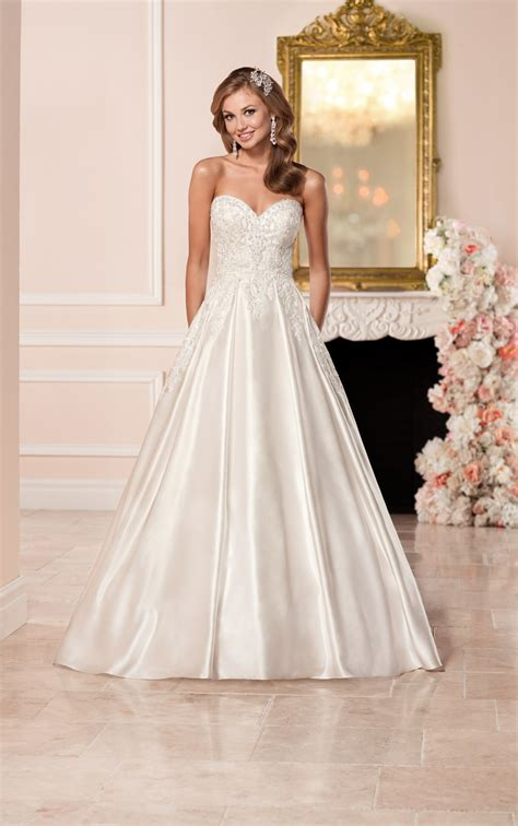 Satin Wedding Dresses by Satin Wedding Dress With Sweetheart Neckline Stella York