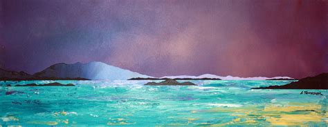 spray painting scotland paintings prints of crinan dusk argyll scotland