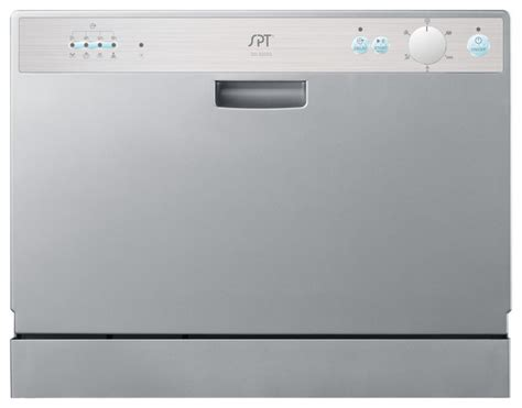 Spt Countertop Dishwasher Silver spt countertop dishwasher with delay start silver