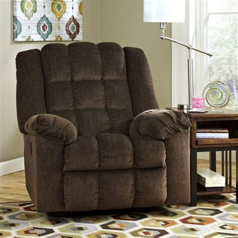media room power recliners ludden power rocker recliner in cocoa 8110498