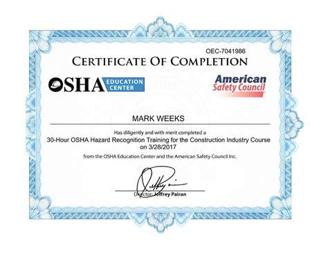 osha piv certification card template osha certificate image collections editable certificate