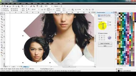 cara catok rambut ke dalam cara memasukkan foto ke dalam objek di coreldraw youtube