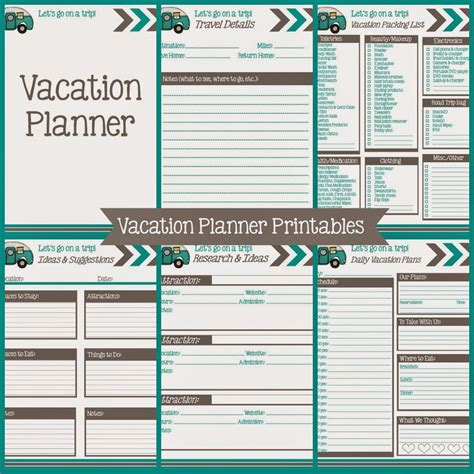 printable daily vacation planner best 25 travel planner ideas on pinterest bullet
