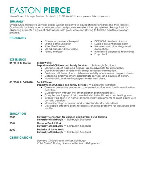 Child Welfare Specialist Cover Letter by Social Services Resume Exles Social Services Sle Resumes Livecareer
