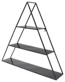 Tildan 3 tier floating metal wall shelf black modern