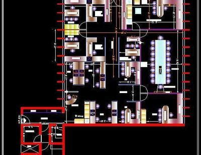 small office furniture layout autocad dwg plan  design