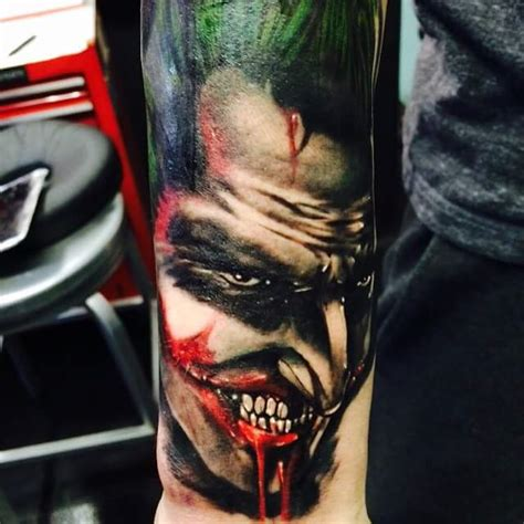 joker tattoo controversy my friend made this badass joker tattoo batman