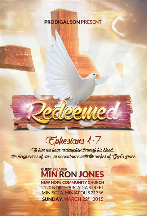 Church Flyer Redeemed Church Flyer By Kill Bill123 Graphicriver