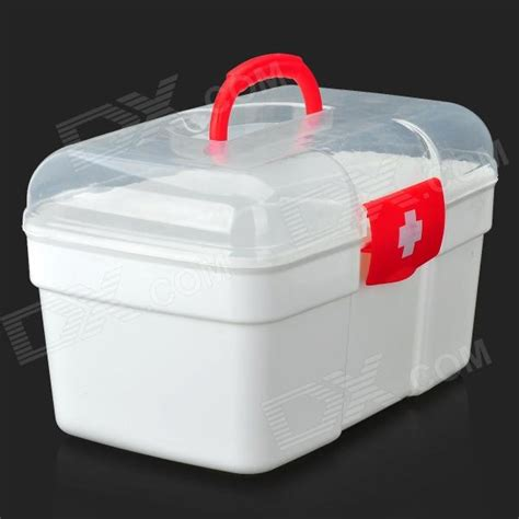 Portable Medicine Storage Box portable medicine pill storage box aid kit white