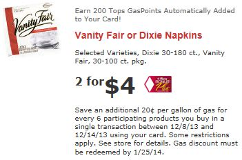 Vanity Fair Promo Code by Couponing Tops Friendly Markets Coupon