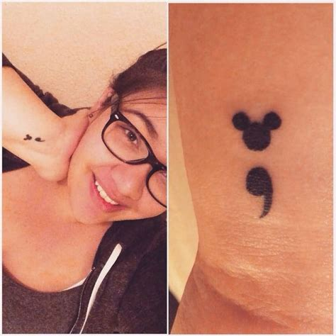 small mickey tattoo best 25 semicolon ideas on semi colon