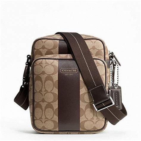 Coach Mahoganny And Flight Bag For coach heritage stripe flight bag f70589 khaki mahogany