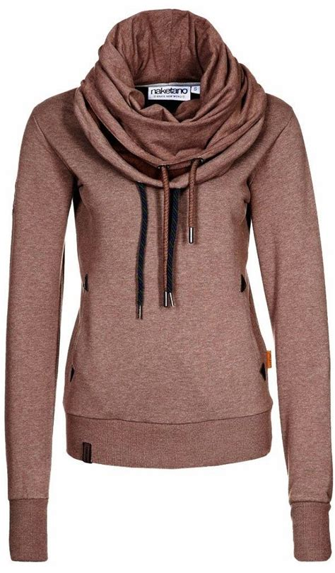 Hoodie Zipper Sweater C O C adorable sweatshirt scarf and a hoodie in one s o f a n