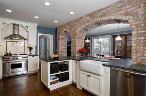 brick wall kitchen how to integrate exposed brick walls into your interior d 233 cor