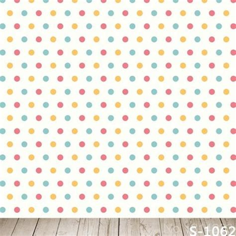 polka bintik 3x5ft colorful polka dots wall yellow blue balls