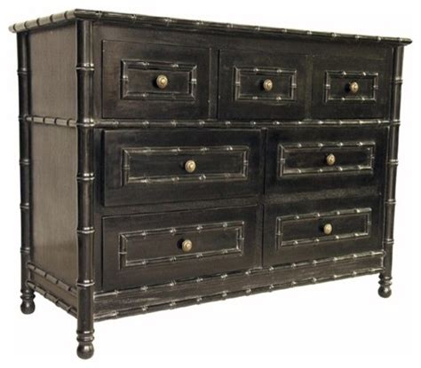 Noir Dresser by Noir Furniture Bamboo 7 Drawers Dresser In Rubbed