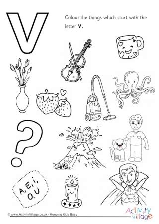 colors that start with v initial letter colouring pages
