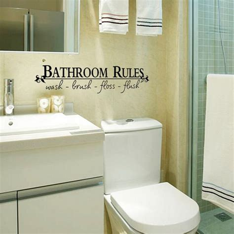 Bathroom Vinyl Decor Bathroom Toilet Removable Wall Sticker Vinyl
