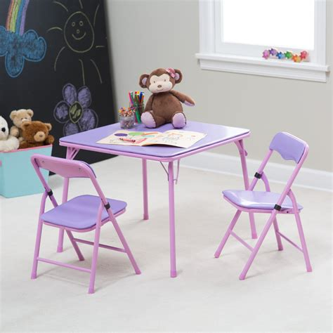 childrens folding table and chairs showtime childrens folding table and chair set purple