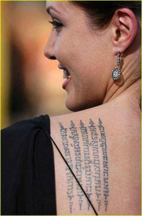 angelina jolie bamboo tattoo meaning 25 best ideas about thai tattoo meaning on pinterest