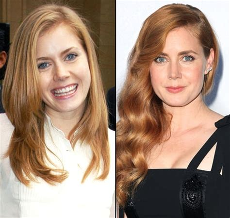 did amy carlson get plastic surgery amy adams red hair helped her career us weekly