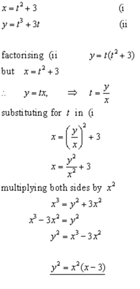 PARAMETRIC EQUATIONS,coordinate geometry from A-level