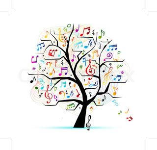 musical tree abstract musical tree for your design vector colourbox