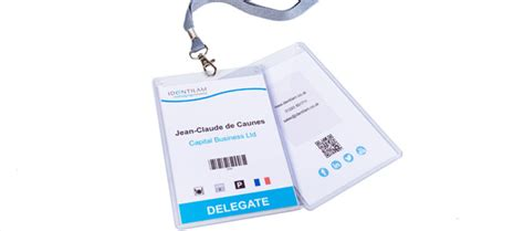 exhibition id card design conference event id card badges for delegates identilam