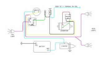 later wiring diagram 6 volt battery ignition generator with voltge