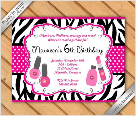 50th birthday makeover 50 birthday makeover 50 off sale spa party invitations