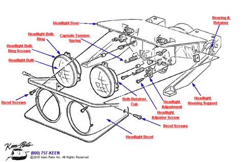 1974 corvette headlight vacuum diagram 1974 corvette headlight bezel parts parts