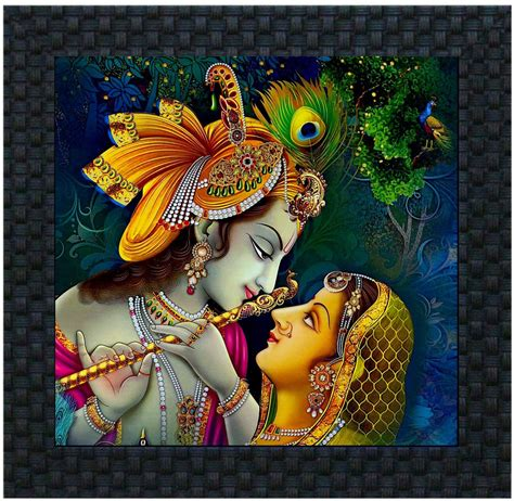 krishna clock themes divinecrafts radha krishna canvas painting price in india