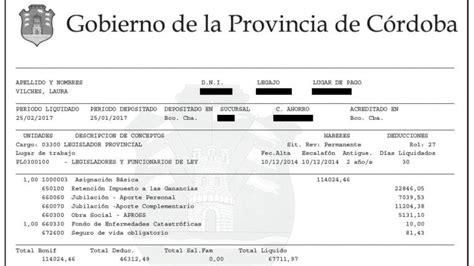 recibo de sueldo de un docente con el aumento la dieta de un legislador cordob 233 s lleg 243 a