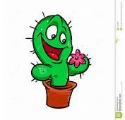 Libera Da Diritti Funny Cactus Flower Cartoon Immagine 33543855
