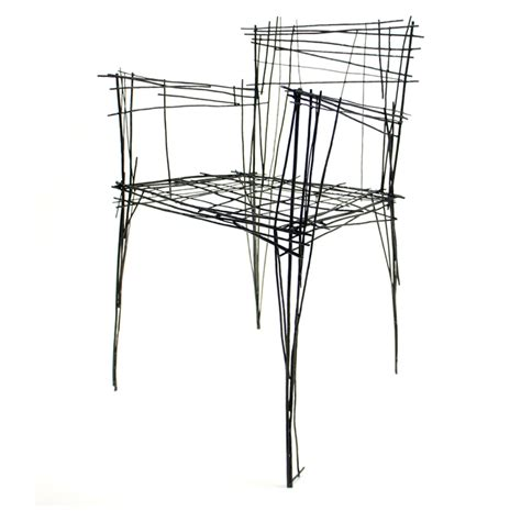 stuhl zeichnung jinil park materializes drawing furniture series using wire