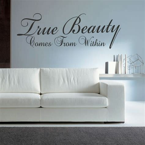Futon Quote by True Comes From Within Wall Stickers Quote