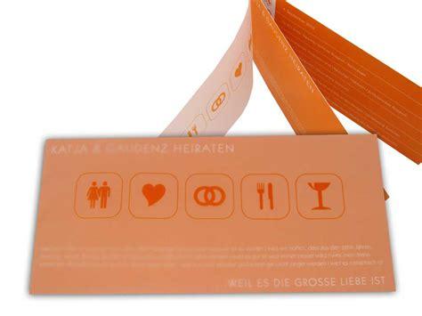 Einladungskarten Hochzeit Orange by Einladungskarte Hochzeit Zeichensprache Orange