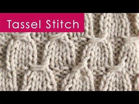 knitting pattern understanding vintage tassel stitch in celebration of graduation season