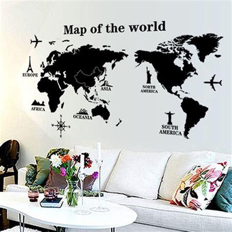 Sticker Wallpaper Dinding Family sticker wallpaper dinding world map jakartanotebook