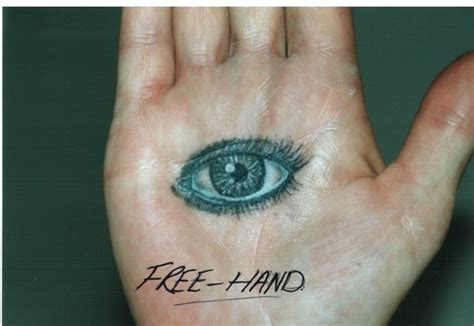 tattoo of eye in palm of hand free hand eye tattoo picture at checkoutmyink com
