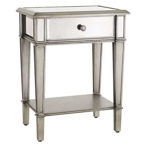 Hayworth Mirrored Nightstand hayworth mirrored silver nightstand pier 1 imports