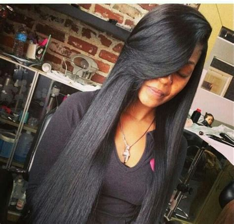 straight weave on pinterest straight weave hairstyles with bangs styles tries 2014